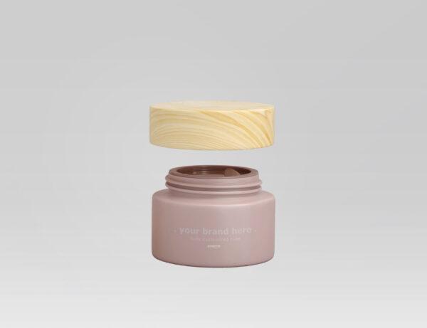 INDORIVER | Customized Cosmetics Tube & Cream Jar with a Wood Lid
